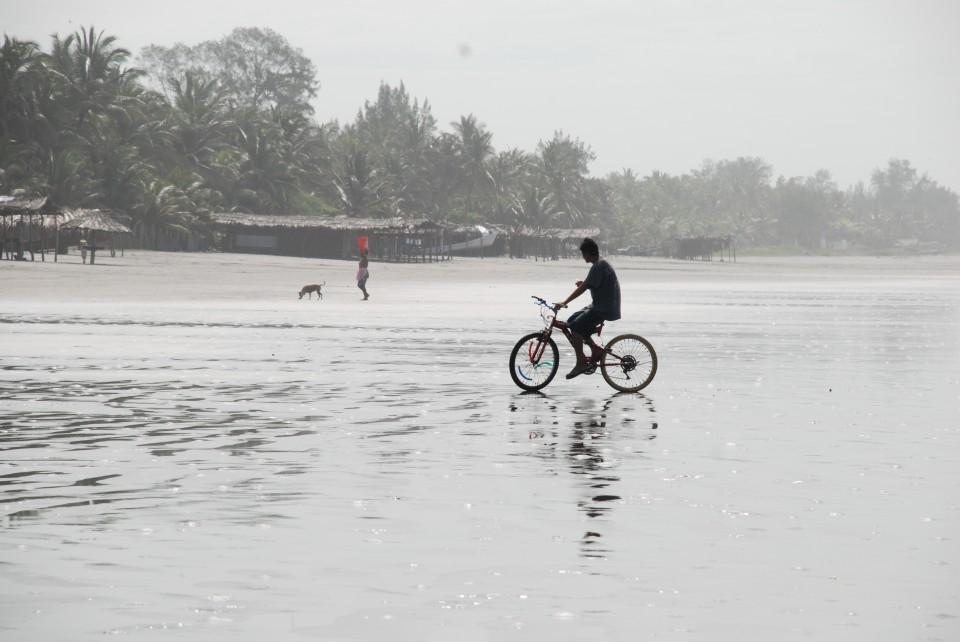 Playa de El Cuco en El Salvador