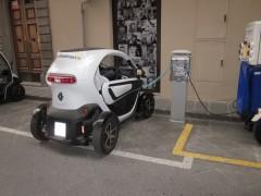 Punto de recarga de vehiculo eléctrico en Florencia