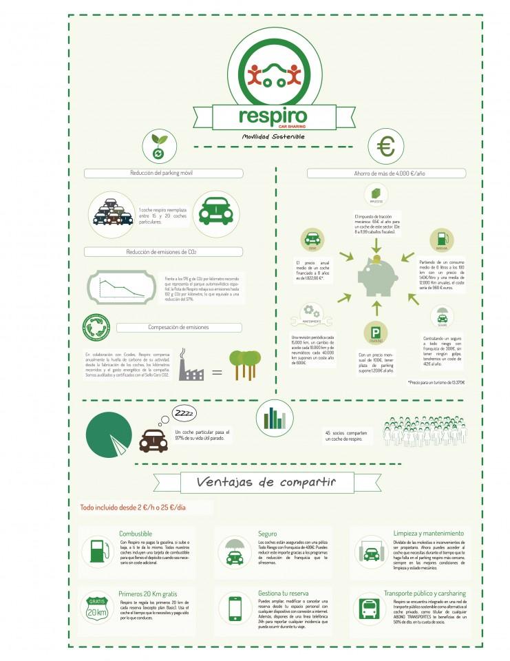 Coche compartido Almería infografía A4